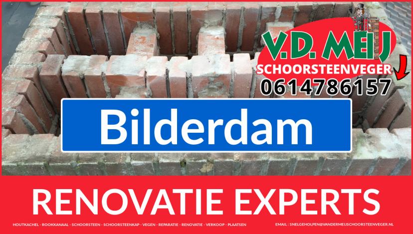 gehele schoorsteen restauratie in Bilderdam