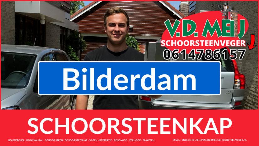 schoorsteen kap plaatsen in Bilderdam