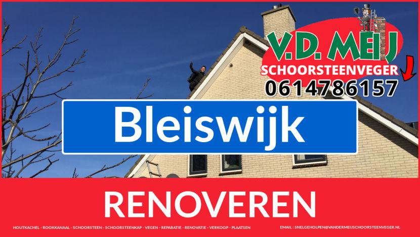 bedankt voor uw bezoek aan Van der Meij schoorsteen restauratie Bleiswijk