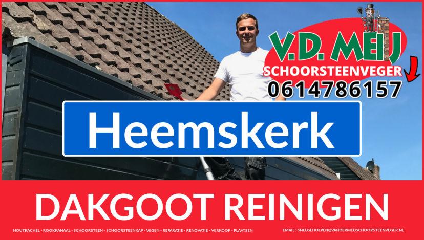 dakgoot reinigen Heemskerk