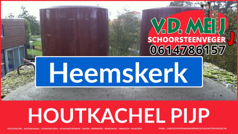 enkel-wandig rook-kanaal vervangen in Heemskerk