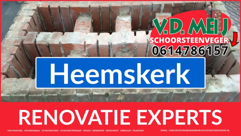 algehele schoorsteen restauratie in Heemskerk