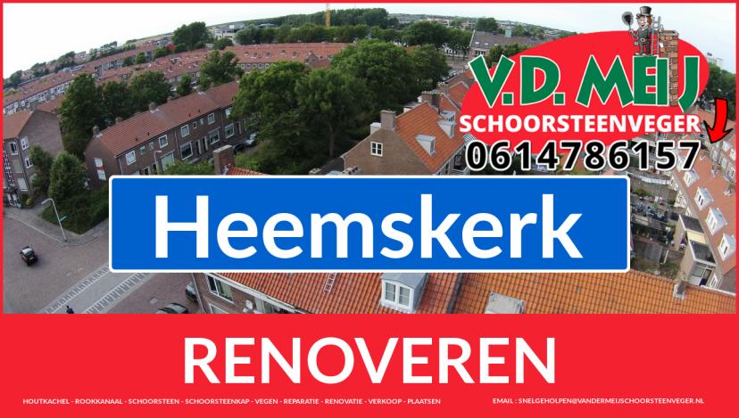Tot ziens bij Van der Meij schoorsteen renovatie Heemskerk