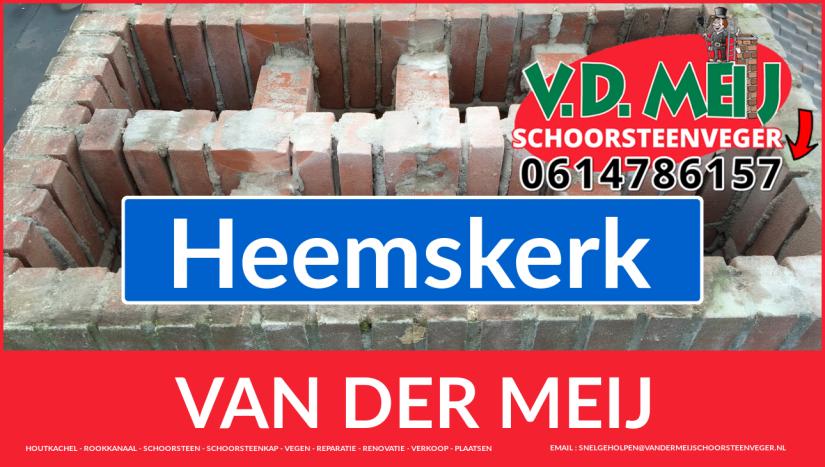 Van der Meij schoorsteenrenovatie in Heemskerk