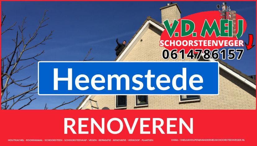bedankt voor uw bezoek aan Van der Meij schoorsteenrenovatie Heemstede