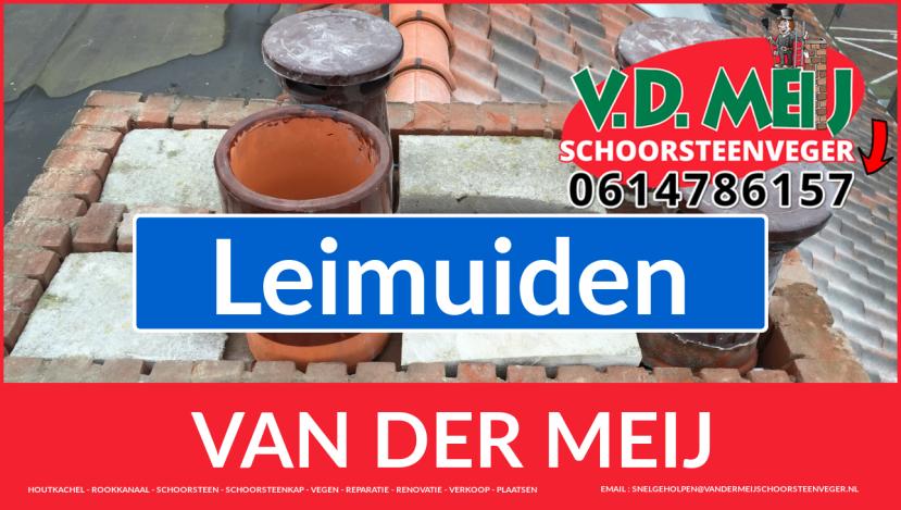 Van der Meij schoorsteen restauratie in Leimuiden