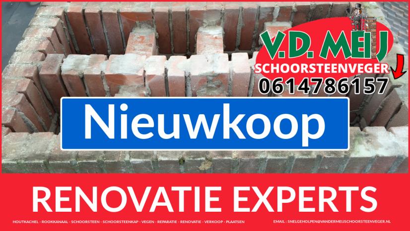 complete schoorsteenrenovatie in Nieuwkoop