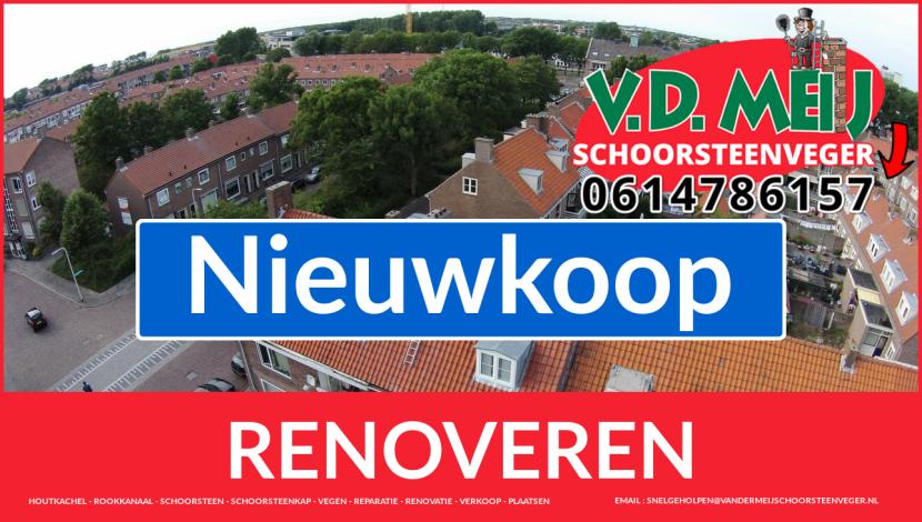 Tot ziens bij Van der Meij schoorsteenrenovatie Nieuwkoop