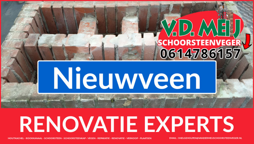 gehele schoorsteen renovatie in Nieuwveen