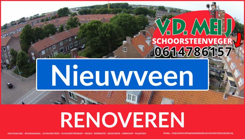 Tot ziens bij Van der Meij schoorsteen renovatie Nieuwveen