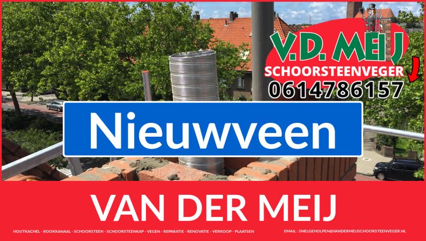 Van der Meij schoorsteen restauratie in Nieuwveen