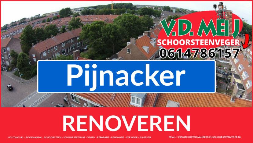 Tot ziens bij Van der Meij schoorsteen renovatie Pijnacker