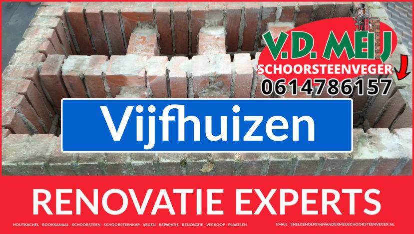 volledige schoorsteenrenovatie in Vijfhuizen