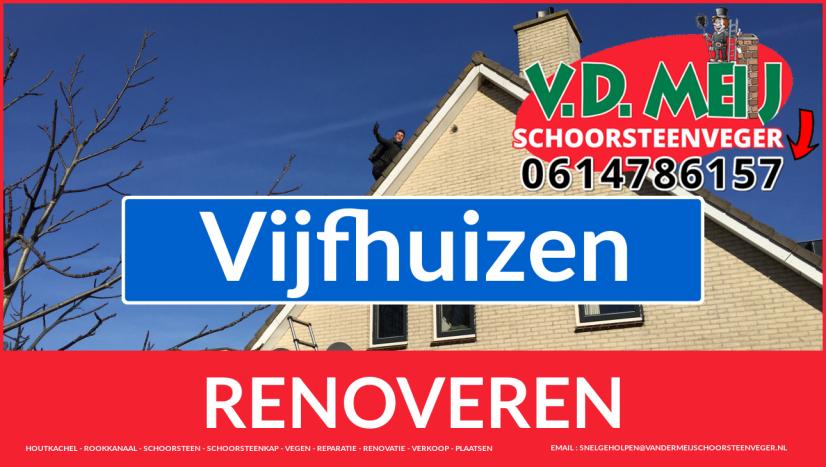 Tot ziens bij Van der Meij schoorsteen restauratie Vijfhuizen