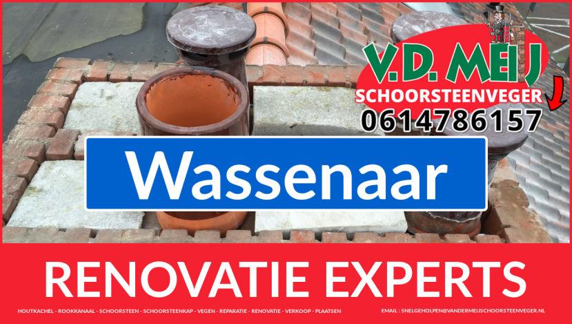 gehele schoorsteenrenovatie in Wassenaar