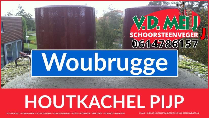 enkel-wandig rookkanaal plaatsen in Woubrugge