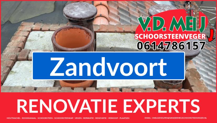 gehele schoorsteenrenovatie in Zandvoort
