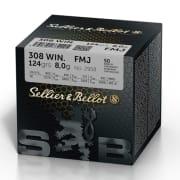 S&B 308 Win 124 FMJ  (50 pk.)