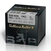S&B 308 Win 180 FMJ (50 pk.)