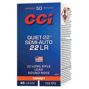 CCI 22 LR QUIET LRN SEMI-AUTO 45grs (50 pk.)