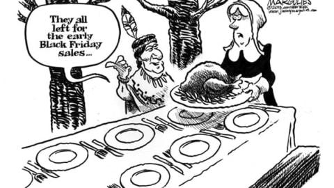 Thanksgiving and Black Friday Cartoons