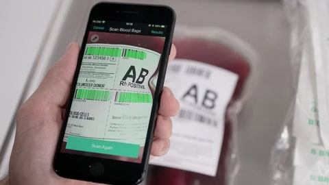 Smartphones Equipped with Barcode Scanning-Enabled Apps Help Manage Sterile Fluids More Effectively