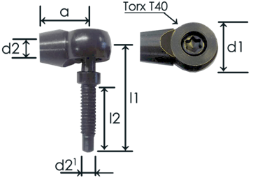 Part # 435T angle joint ends