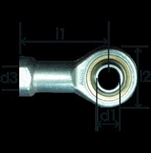 Part # 467 rod end bearings RB8