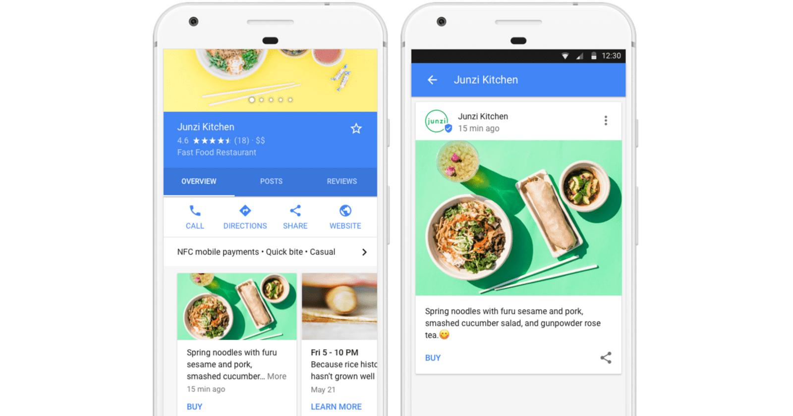 Google Posts through Google My Business