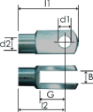 Part # 124 clevis eye end
