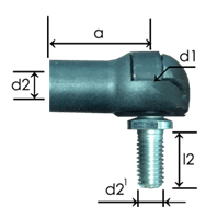 Part # 655.19 metal ball joint ends