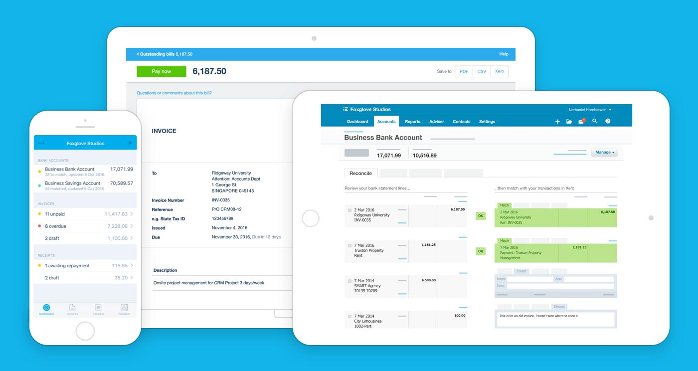 Xero biedt geweldige intuïtieve boekhoudsoftware