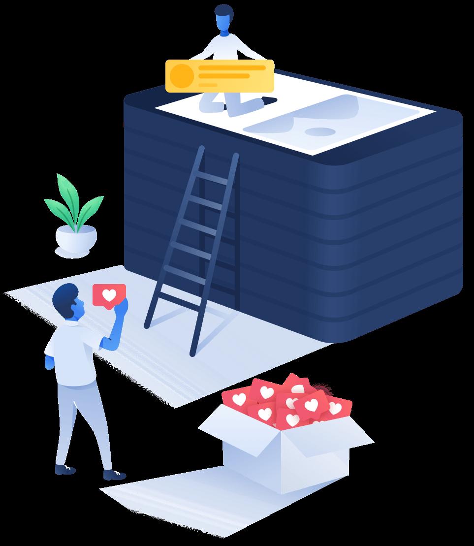 Illustratie stap 3 website pakket