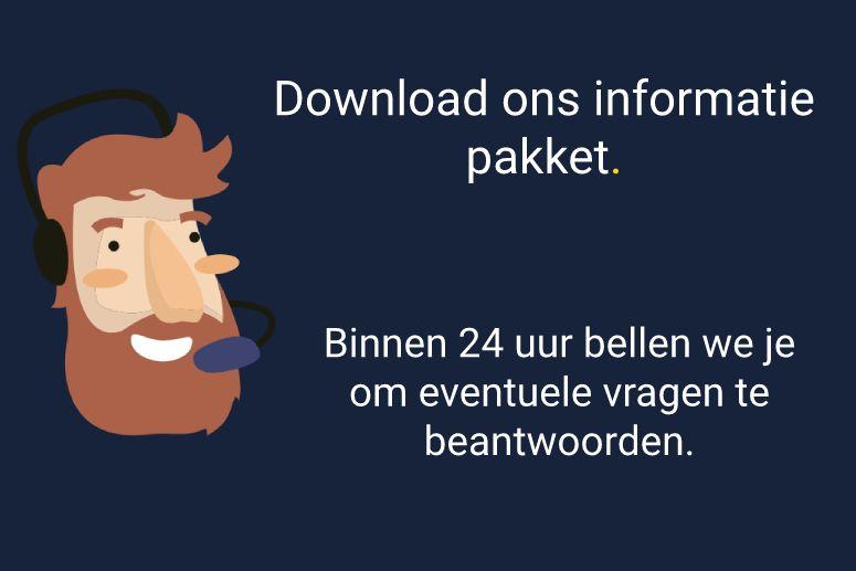 Informatiepakket downloaden, wordt teruggebeld