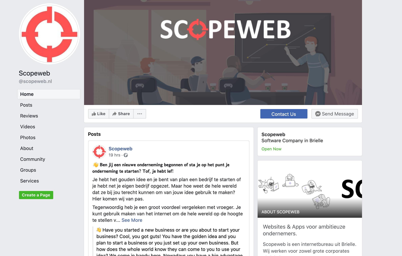 SCOPEWEB facebook pagina