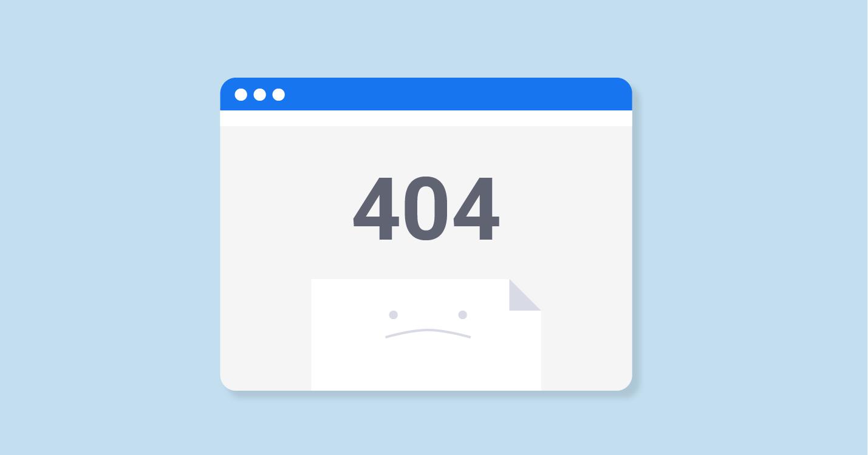 Voorkom 404 errors. Deze zijn erg slecht voor je ranking en gebruikerservaring