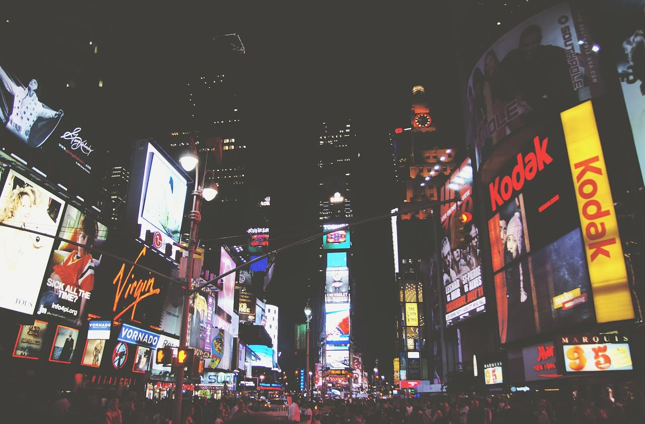 Loutere belightingseffect zoals op Times Square in NYC
