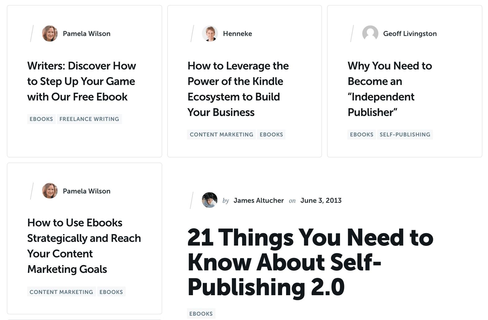 Copyblogger geeft gratis eBooks aan schrijvers