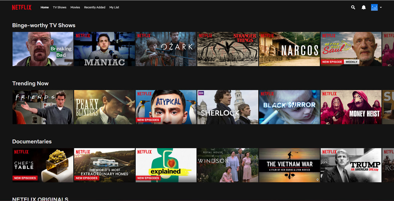 Node.js development for Netflix app