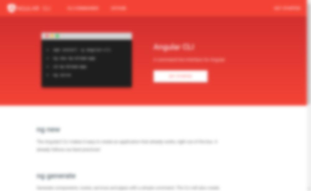 Angular CLI Homepage