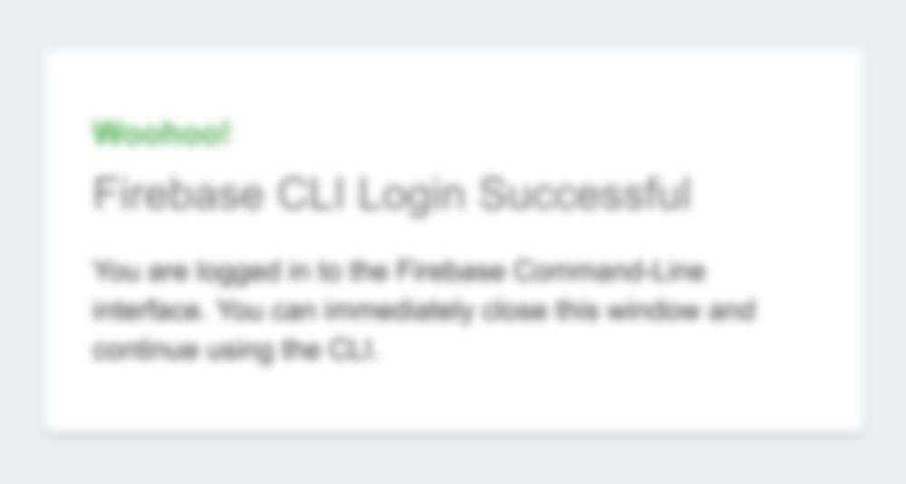 Firebase Login Successful