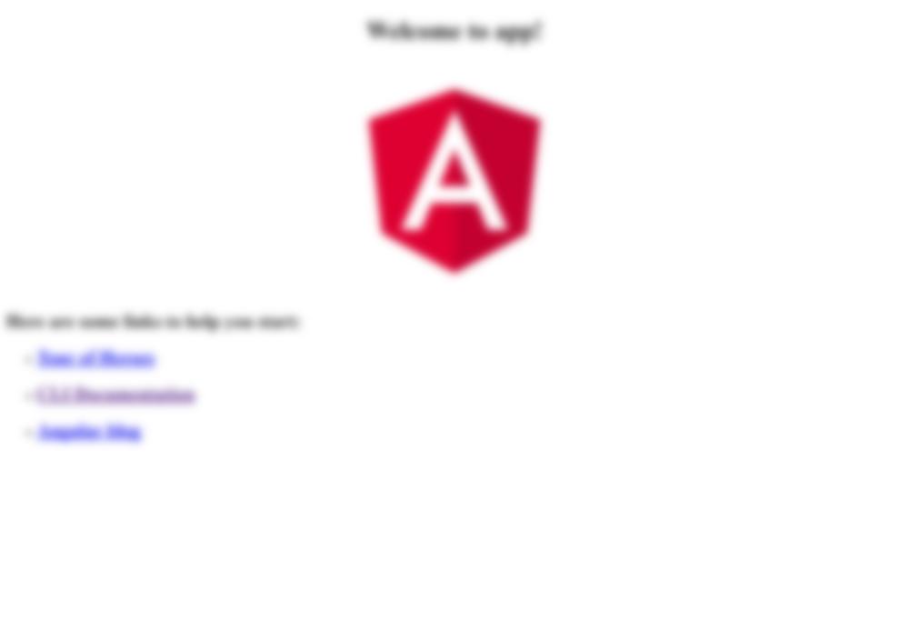 Angular CLI Test App