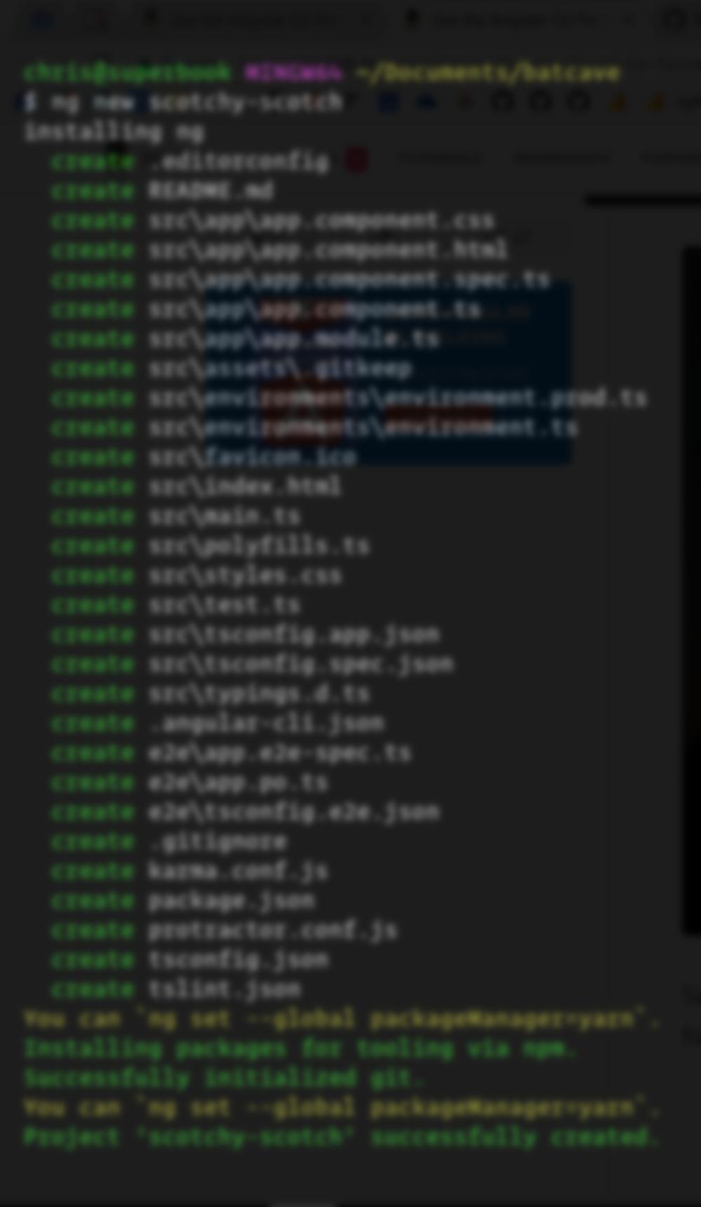 Angular CLI ng new
