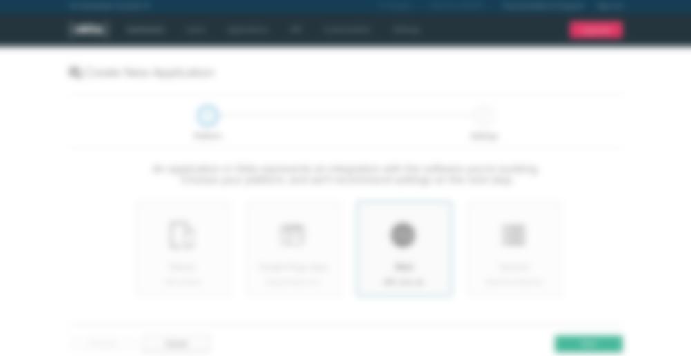 okta create web app