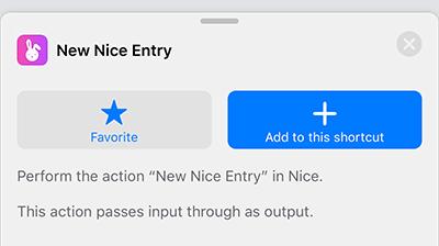 Nice Siri Shortcut