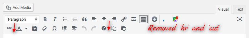 Hide or remove TinyMCE Editor Available Buttons