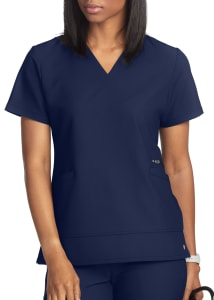 White Cross V. Tess V-Neck Scrub Top