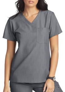 White Cross V. Tess One Pocket V-Neck Scrub Top
