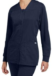 Grey's Anatomy 4 Pocket Button-front V-neck Scrub Jackets