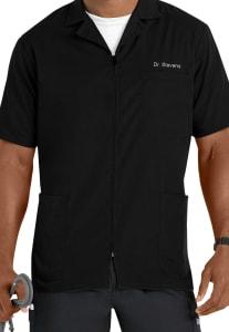 Short Sleeve Zip Front Jacket